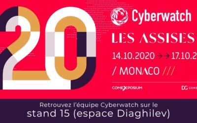 Cyberwatch participe à la 20ème édition des Assises de la Sécurité du 14 oct. au 17 oct. 2020