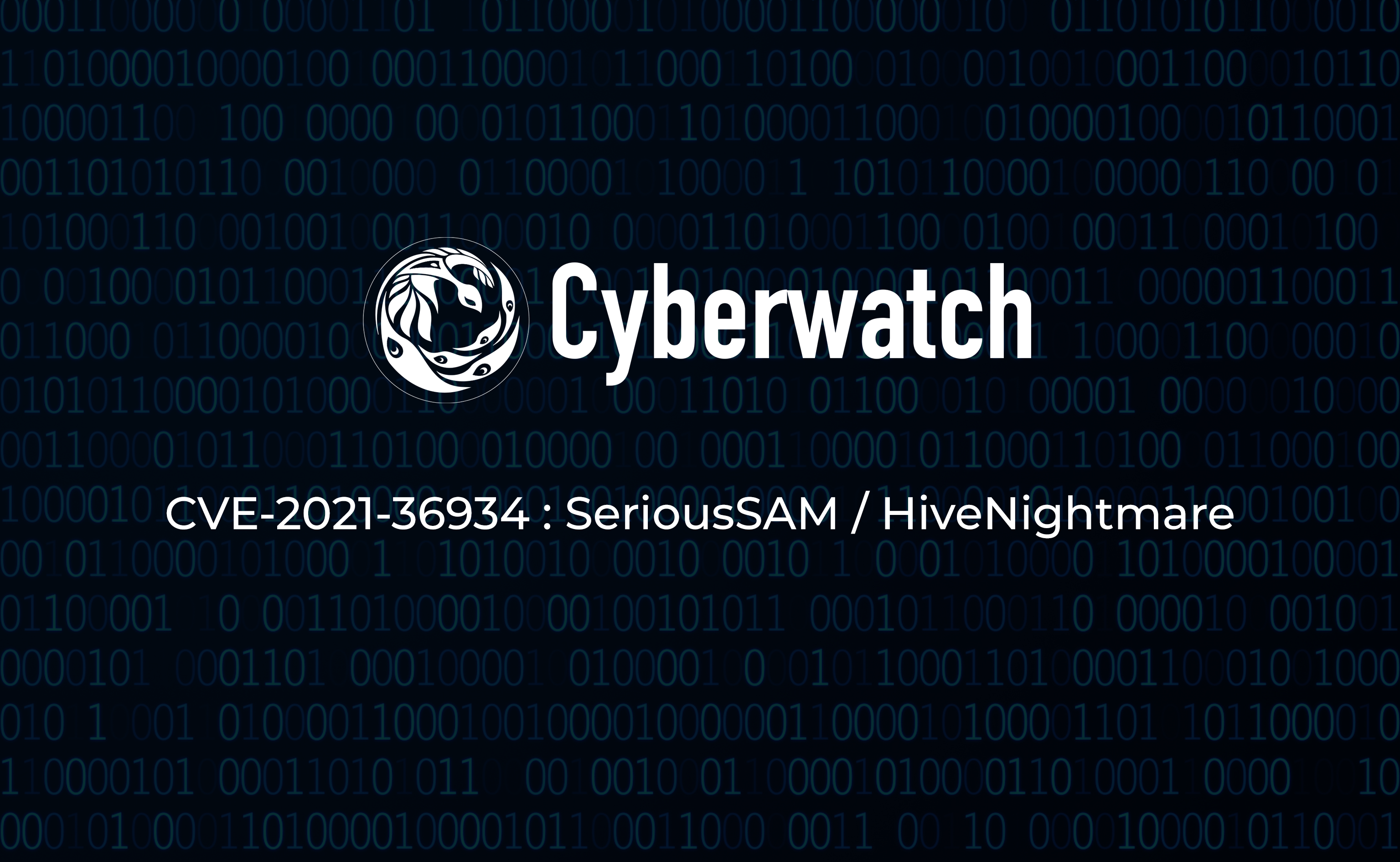 CVE-2021-36934 SeriousSAM HiveNightmare